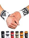 GORNATION® Muñequeras Gym Wrist Wraps Venda Muñeca por Calistenia/Calisthenics, Fitness, Entrenamiento de Peso Corporal Hombre y Mujer (Premium White)