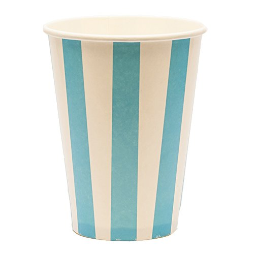 8oz 12oz 16oz 20oz blauwe streep wegwerp milkshake koud drinken papier bekers & deksels