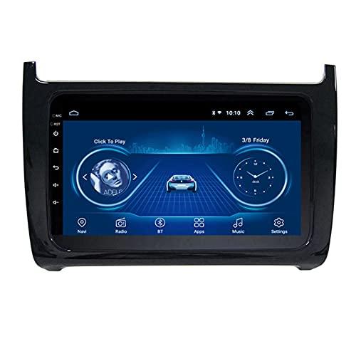 Android 10.0 9 Pulgadas Radio Satelital Para Automóvil Reproductor Multimedia 2.5D Navegador GPS Para Volkswagen VW POLO 2011-2018 Soporte WiFi Bluetooth/Control Del Volante(Color:WIFI 4G+64G)