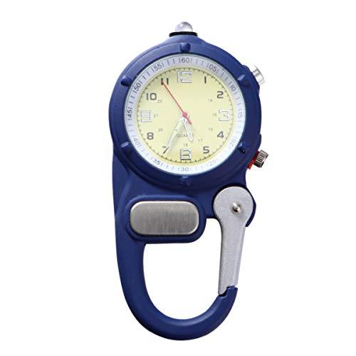 Baluue Reloj con Clip de mosquetón - Reloj de Cuarzo Clip en Mosquetón Reloj de Bolsillo para Enfermeras Y Médicos con Ultraligero para Montañismo Al Aire Libre
