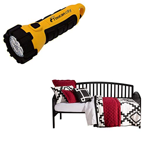 Toucan City LED Flashlight and Hillsdale Furniture Carolina Twin Size Daybed in Black 1592DBLH