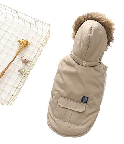 Haustierkleidung, Hundekleidung für Herbst und Winter, zweibeinige Daunenjacke mit Kapuze, Haustierbedarf