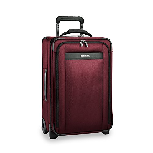 Briggs & Riley Transcend-Softside Expandable Tall Carry-On Upright Luggage, Merlot, 22-Inch