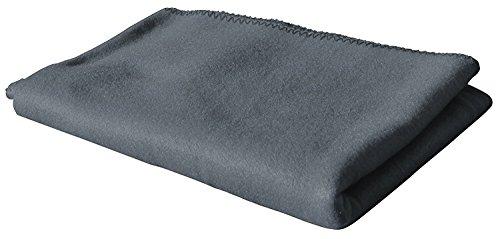 KiGATEX Polar-Fleecedecke in vielen Farben 130x160 cm pflegeleicht für Innen oder Außen (grau)