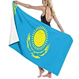 ZQHRS Premium Badetücher Handtücher für Zuhause, Hotel, Spa, Strand - Eagle Sun Flag von Kasachstan Blaue Handtücher, Ultra Soft Shower & Badetuch Extra große Badeschalen mit hoher Saugfähigkeit