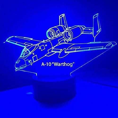Luz nocturna infantil 3D para niños, avión, cielo nocturno, LED, ilusión óptica, iluminación para el hogar, decoración creativa, luces LED para cumpleaños o Navidad