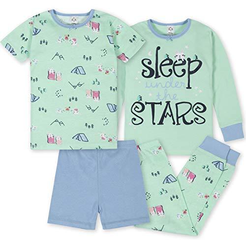 Gerber Baby 4-Piece Pajama Set, Girl Camping, 18 Months
