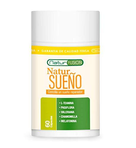 Melatonina Pura + L-Teanina + Valeriana + Pasiflora + Chamomilla | Mejora la calidad del Sueño | Elimina el Insomnio y regula los ciclos de sueño | Fórmula natural de alta eficacia | 60 Cápsulas