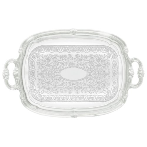 Serving Tray CMT-1912-19 1/2' x 12 1/2' Oblong W/Handles Chrome Plated Winco, Set of 24