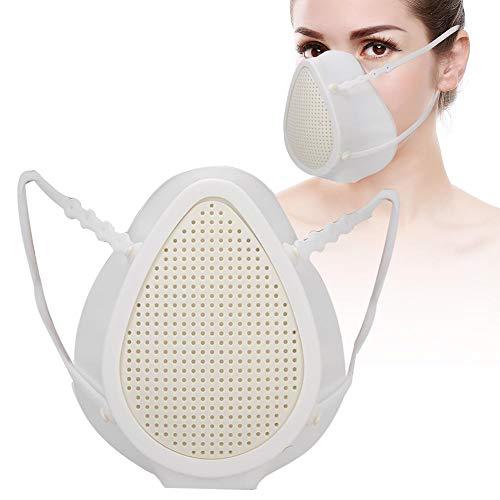 Qinlorgo Professionelle Mundschutzmuffe für Erwachsene und Kinder, elektrische Mundmuffel Luftreinigung Atemwegs tragbare Mundmuffel mit Ventil(Erwachsene)