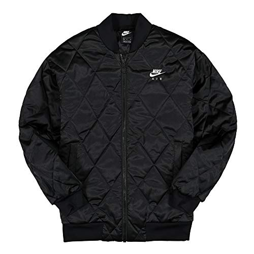 NIKE Air Synthetic-Fill Chaqueta, Mujer, Black/Black/White, M