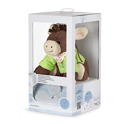 Sterntaler Chilling Box Emmi, Digitale Spieluhr, inklusive Bluetooth-Lautsprecher und USB-Kabel, Alter: Babys ab der Geburt, 20 x 20 x 8 cm, Grün