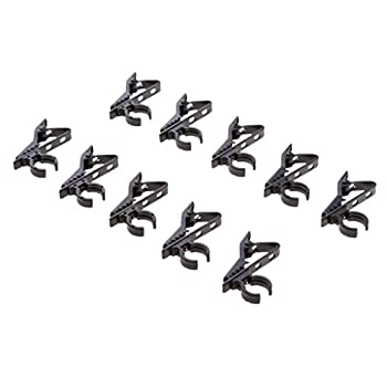 MonkeyJack 10 Pack Mini Lavalier Microphone Clip Safe Hold Shock Secure Lapel Mic Clamp Replacement Kit 12mm Diameter