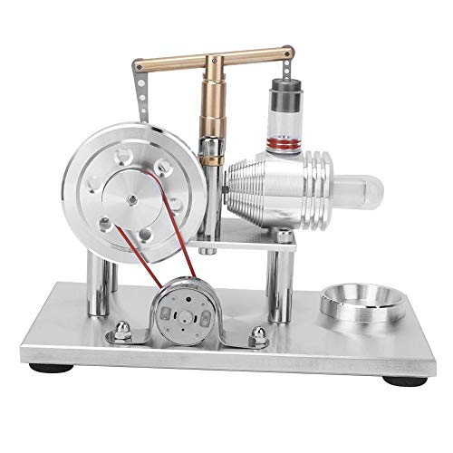 Modello di Motore Stirling, Mini generatore di Aria Calda Modello generatore di elettricità Kit di Puzzle Giocattoli per Bambini Adulto