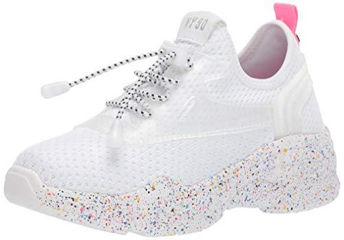 Steve Madden JMYLESS Zapatillas de Deporte para Niñas, Color Blanco, 21