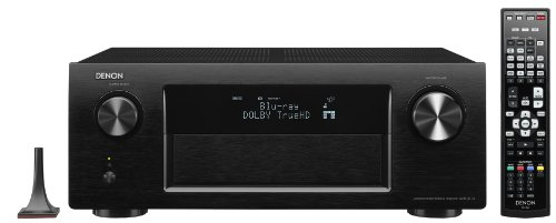 Denon AVR 3313 7.2 AV-Receiver (Aluminium-Front, 7 HDMI mit 3D, 4K, Airplay, Spotify, Internetradio, Netzwerk, USB, 7x 165 Watt) schwarz