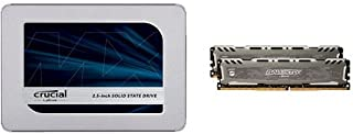 Crucial SSD 500GB 内蔵2.5インチ 7mm MX500 (9.5mmアダプター付) CT500MX500SSD1/JP+CFD販売 デスクトップPC用メモリ PC4-21300(DDR4-2666) 8GB×2枚 288pin...