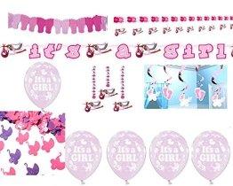 Girl Komplettset Girlande Konfetti Luftballons Girlanden Babyparty