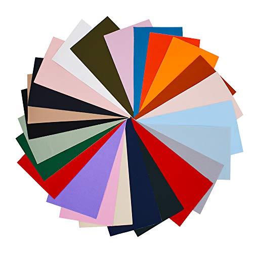24 Stück selbstklebender Flickstoff, 24 Farben, wasserdicht, leicht, Reparaturflicken für Kleidung, Daunenjacken, Zelte, Kleidung, Schlafsack (20 x 10 cm)
