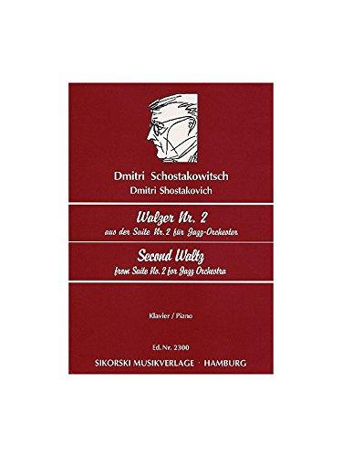 Partitions classique CHANT DU MONDE CHOSTAKOVITCH D. - WALZER Nr. 2 AUS DER SUITE Nr. 2 FUR JAZZ ORCHESTRA - Klavier