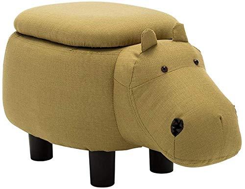 Yppss Swing taburete Hippo taburete de madera sólida sofá almacenamiento niño banco intercambiable silla reposapiés acolchado 4 pies stock antideslizante peso 80kg taburete eterno