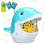 aovowog Máquina de Burbujas para Niños,Pompas de Jabón Pompero Automático Soplador para Bebé,Juguetes de Burbujas de Baño Maquina Pompas Jabón con Solución de Jabón