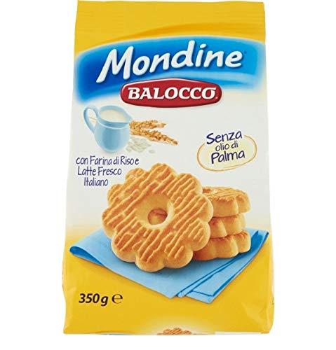 Balocco Mondine Biscotti con farina di riso e latte fresco italiano Kekse mit Reismehl und frischer italienischer Milch biscuits cookies 100% Italienische Kekse 350g