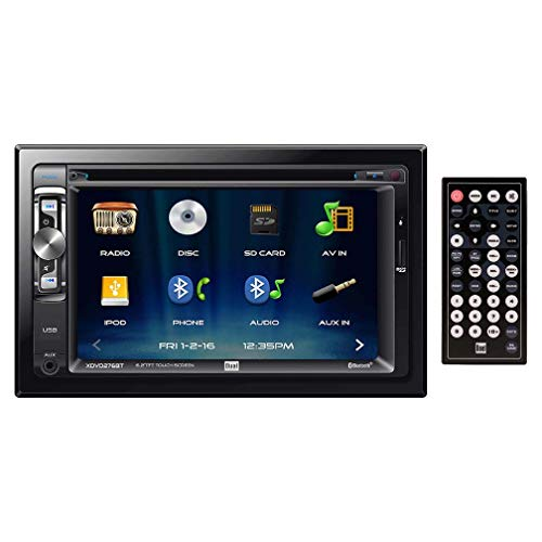 "Dual XDVD276BT 6.2"" LCD Touch Screen Double Din Car Stereo"