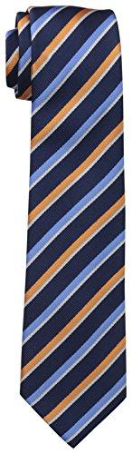 Dockers Big Boys Stripped Necktie,Navy/Orange,One Size