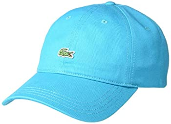 Lacoste Men s Little Croc Twill Adjustable Leather Strap Hat Reef One Size