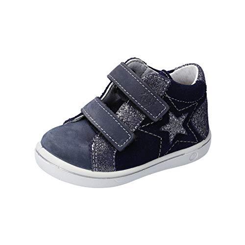 RICOSTA Mädchen Lauflern Schuhe MIA von Pepino, Weite: Mittel (WMS), detailreich Freizeit Halbschuh mit Klettverschluss Kids,Nautic,24 EU / 7 Child UK