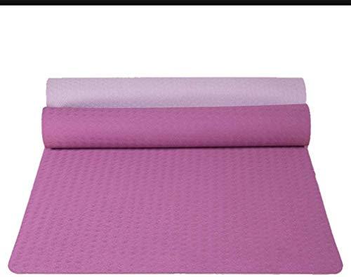 EIIDJFF Esterillas Yoga Antideslizante El Material De TPE Es Antideslizante En Ambos Lados En Ambos Lados Suave Y Cómodo (Color : Purple+Light Purple)