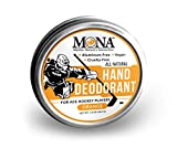 MONA BRANDS All Natural HAND DEODORANT for Ace Hockey Players | For athletes who wear gloves | Vegan, Non-GMO, Cruelty free | ORANGE Scent |