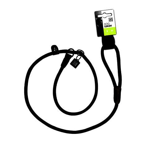 M-PETS Hundeleine Retriever-Führleine mit integriertem Halsband Dog Leash 170 cm schwarz
