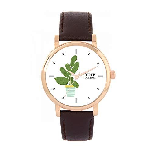 Toff London Reloj de la Planta de Caucho