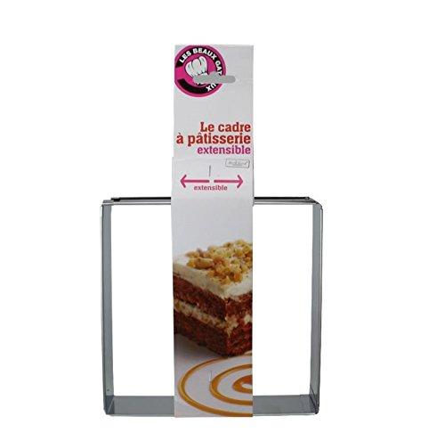 Ard'time BG-CEREXT-AUC Cercle Extensible en INOX Mes Beaux gâteaux, Acier Inoxydable, 15,5 x 17,5 x 7,5 cm
