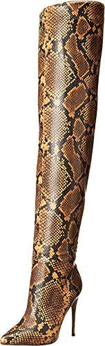 Steve Madden Winnie Harlow x Harlow Over The Knee Boot Yellow Snake 7.5