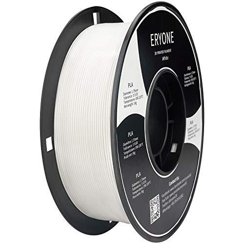 Filamento PLA 1.75mm, Eryone PLA Filamento de PLA para impresión 3D, 1kg 1 Spool,Blanco