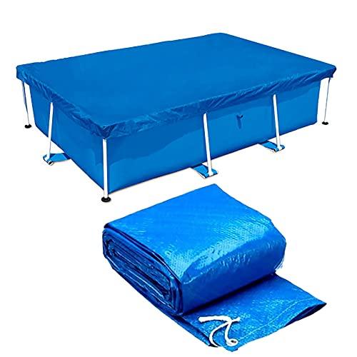 Hmpet Cubre Piscinas Rectangular,Cubiertas de Piscinas Desmontables,Cobertor Piscina Invierno para Frame Piscinas de Marco Familiar,Azul,221 * 150cm