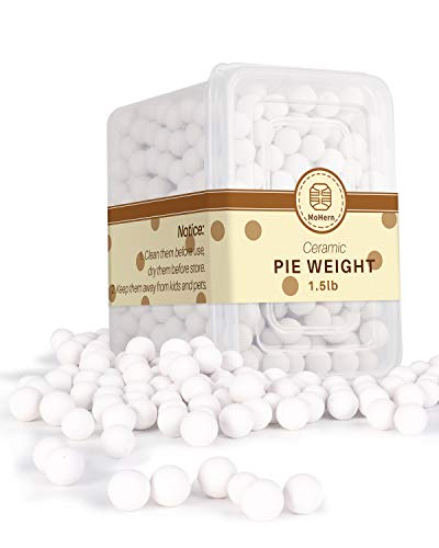Pie Weights, 1.5LB Ceramic Pie Crust Weights, 10mm Reusable Baking Beans with A Storage Box by MoHern