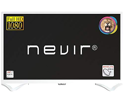 Televisor Nevir TV Led 40 Pulgadas NVR-7706-40FHD2S-B, Full HD, Blanco