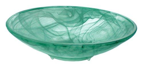 budawi Alabaster Brunnenschale grün matt, Ø 30 cm für Nebler und Zimmerbrunnen