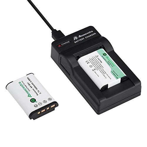 Powerextra Lot de 2 Batterie de Rechange Sony NP-BX1 1600mAH et Chargeur pour Sony NP-BX1 M8 et Sony Cyber-Shot DSC-RX100 DSC-RX100 II DSC-RX100M II DSC-RX100 III DSC-RX100 V DSC-RX100 IV HDR-CX405