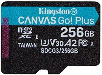Kingston Sdcg3 256gbsp Microsd Speicherkarte 256gb Microsdxc Canvas Go Plus 170r A2 U3 V30 Ohne Sd