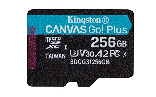 Kingston SDCG3/256GBSP microSD Speicherkarte ( 256GB microSDXC Canvas Go Plus 170R A2 U3 V30 Ohne SD Adapter)