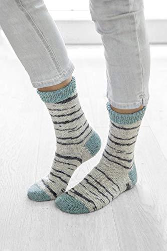 Gründl-Wolle Hot Socks Simila - 4fadige Sockenwolle für 2 identische Socken - neu 2019: gedecktere Farben (102)