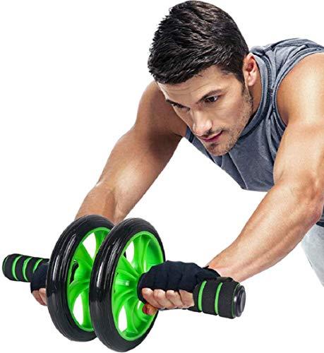 Ducomi Ab Roller abdominales – Rueda abdominal para casa y gimnasio con alfombrilla de rodilla incluida – Rueda Fitness ejercicios espalda, brazos y abdominales, rodillo muscular ABS Wheel