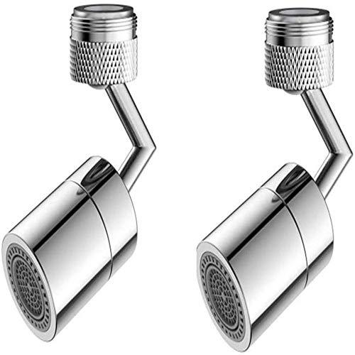 ZGHYBD 720 Degrees Universal Splash Filter Faucet, Kitchen Sink Faucet Aerator,Sprinkler Head Kitchen Faucet Water Filter Regulator Extender Spil,Suitable for Household Kitchen and Bathroom (2pcs)