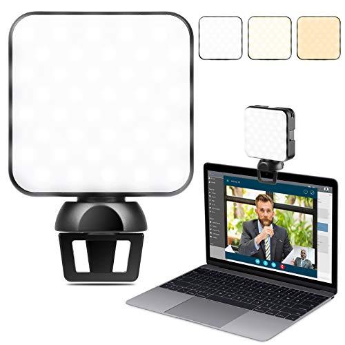 ENEGON Videokonferenzlicht, Videokonferenzen, Dimmbare Webcam-Beleuchtung für die Fernarbeit, Beleuchtung für Zoom-Anrufe, Self-Broadcasting und Live-Streaming für Laptop, Handy und iPad