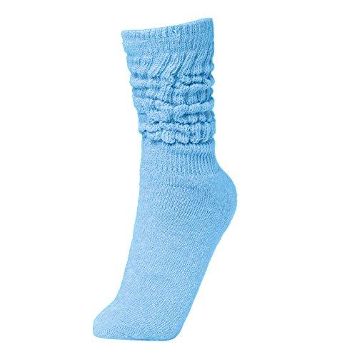 BRUBAKER Womens or Mens Fitness Workout Slouch Socks Gym Light Blue EU 35-38 / US 4-7